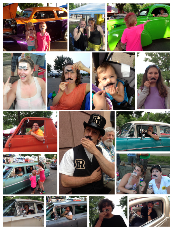 Viral Mustache Business Cards At Minnesota Classic Car Show