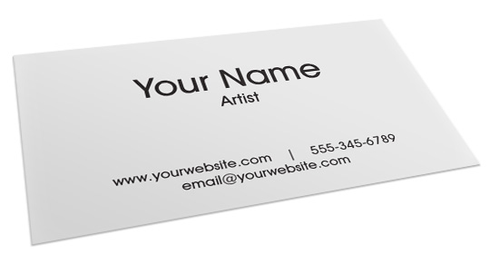 How to make a business card for artists what you need to know generic artist business card colourmoves