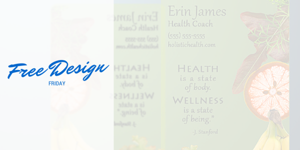 Free Design Friday - Health Coach Business Card