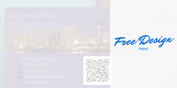 Free Design Friday - CPA Business Card