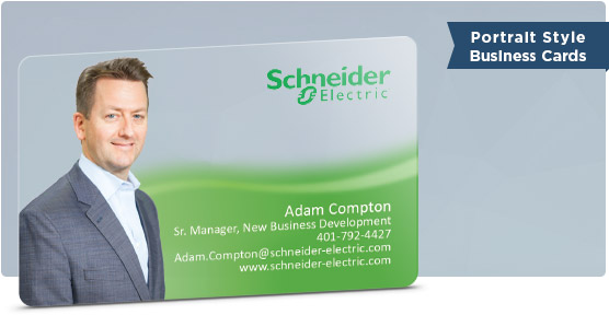 Electrician Business Card Example with Portrait