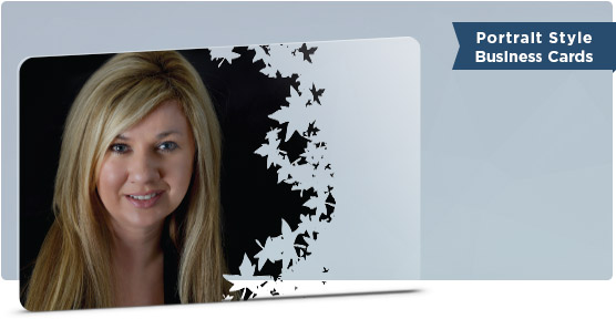 Creative Realtor Business Card With Portrait