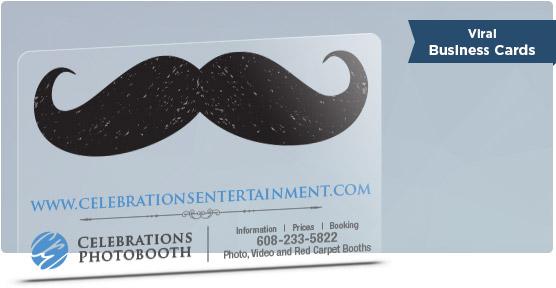 mustache viral business card design