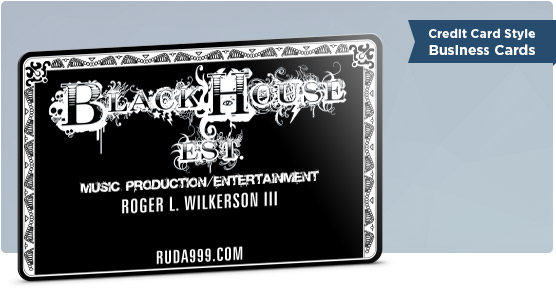 American Express Black Card Style Business Card