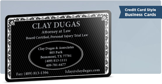 5 ideas for a better business card in 2016 clay dugas credit style biz card reheart Choice Image