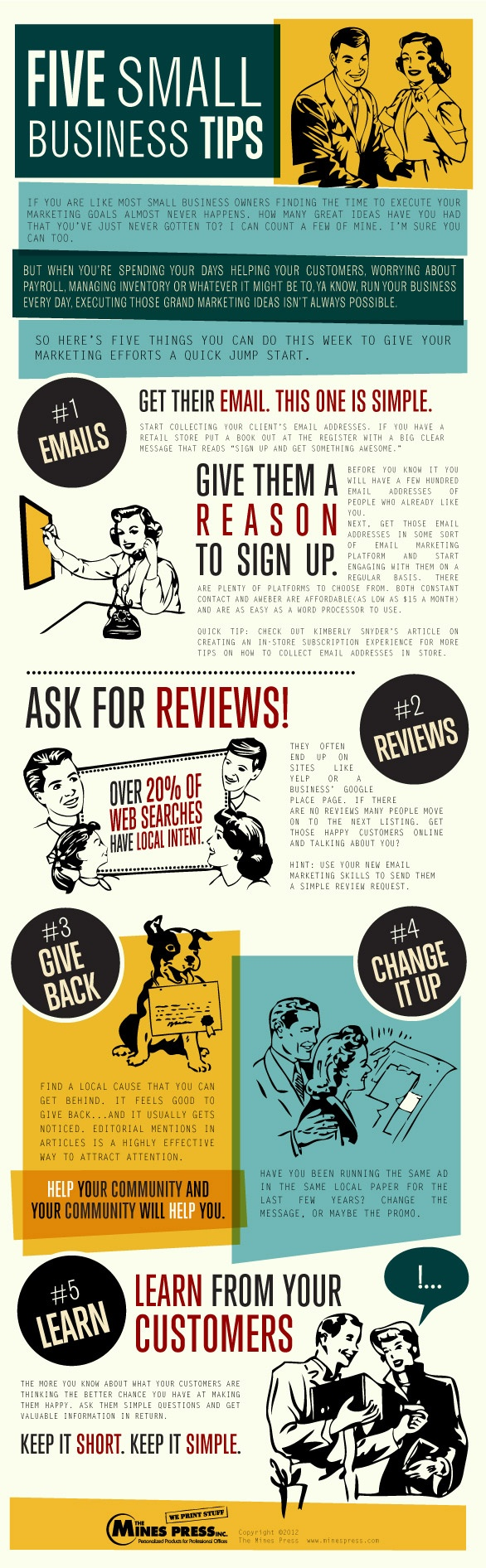 [Infographic] Top 5 Small Business Tips