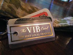 VIB Gold Foil Frosted Membership Key Tags
