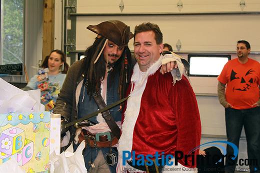 Santa and Jack Sparrow