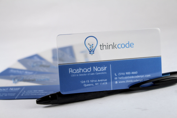 SEO Business Cards - ThinkCode NYC Rashad Nasir Fills Us In...