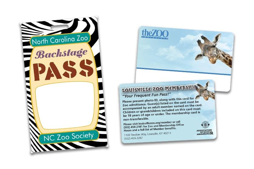 Zoo Pass and a Zoo Membership Card