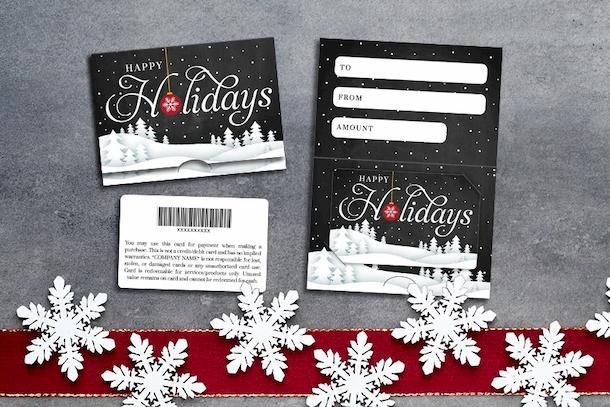 Holidays - Happy Holidays Snowy Hills