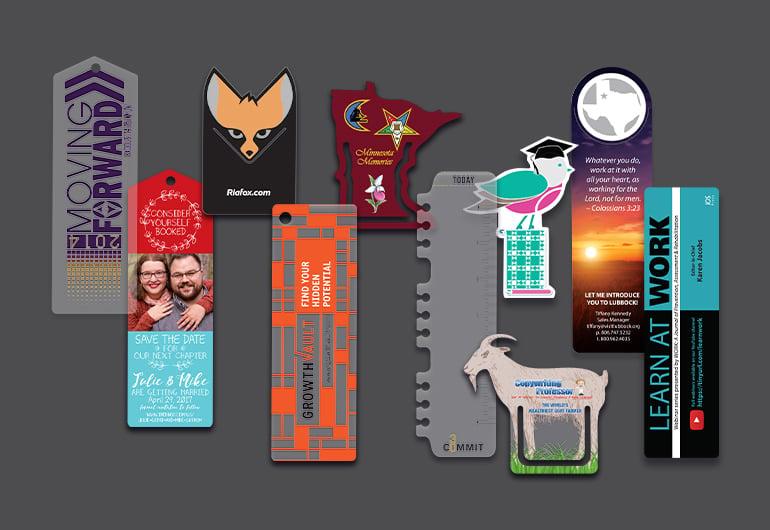 Custom Printed Clear and Die Cut Bookmarks