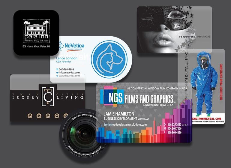 Custom printed plastic business cards