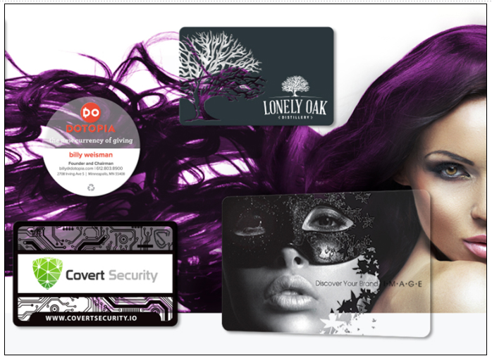 Examples of Custom Transparent Clear Business Cards From Plastic Printers.