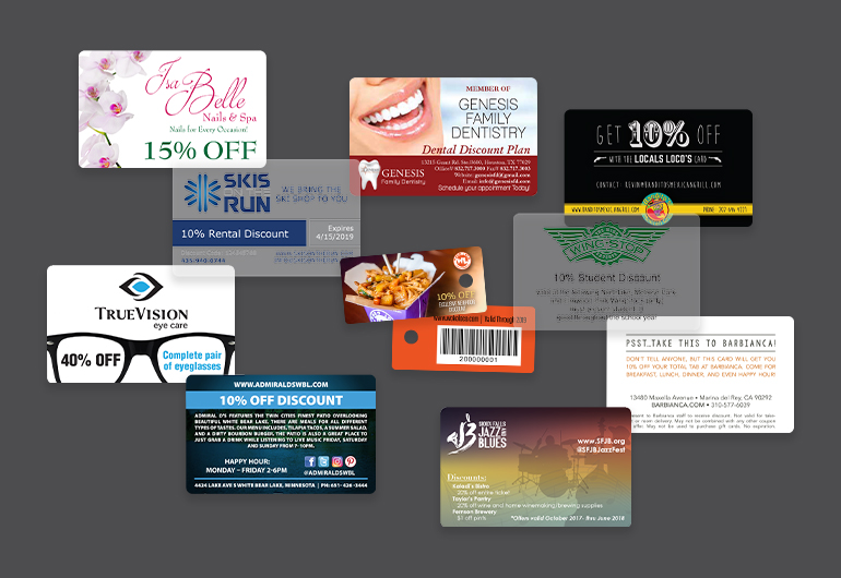 Custom Printed Business Discount Cards
