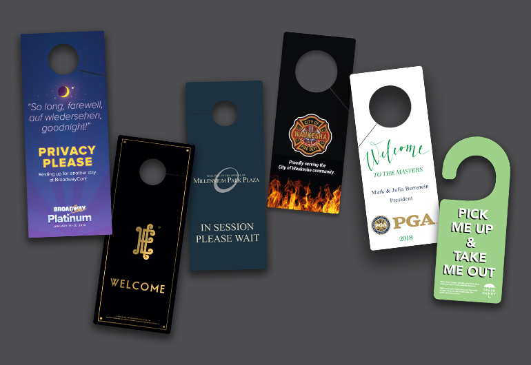 Custom Printed Plastic Door Hangers