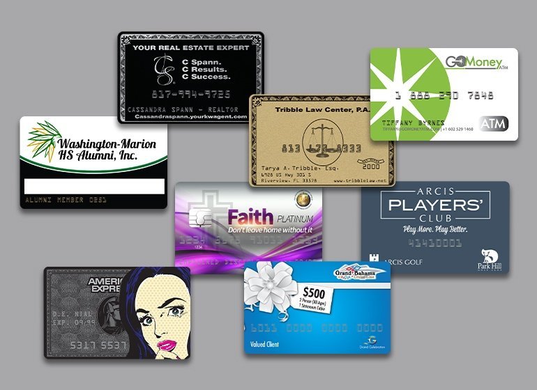 Examples of Custom Clear Business Cards From Plastic Printers.