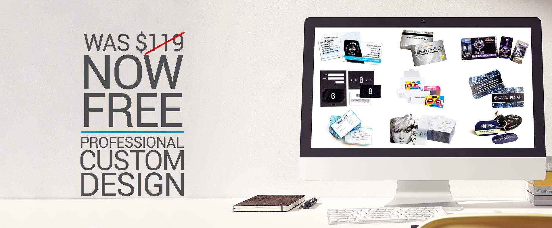free custom plastic business card design