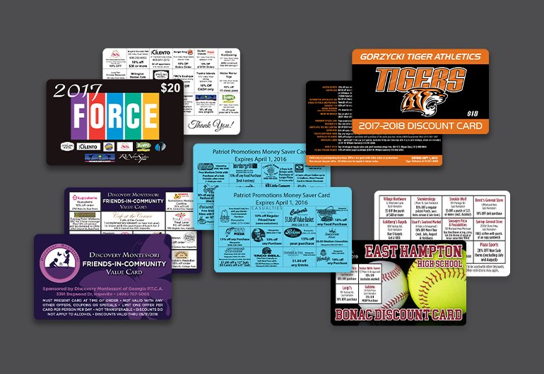 Custom Fundraising Discount Cards