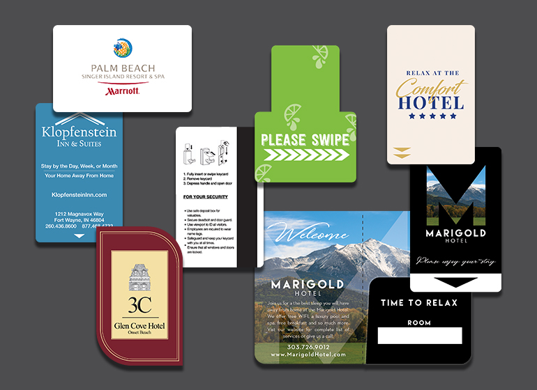 Hotel Key Cards and Swipe Cards with Magnetic Stripes, RFID Cards and NFC Cards