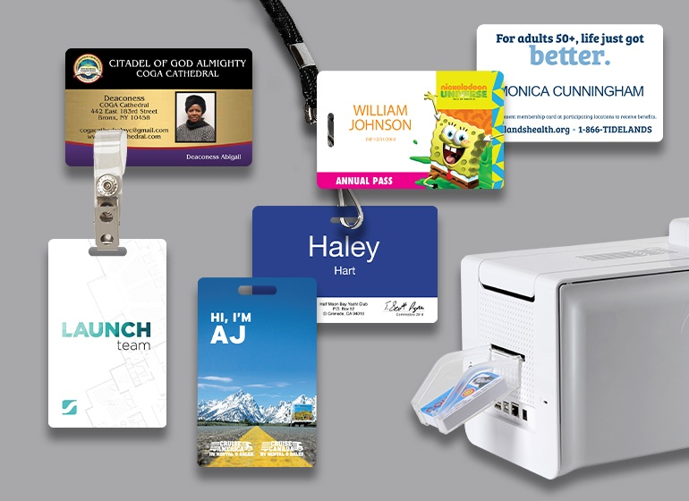 You can customize your ID cards to be as unique as your business and provide the security you need!