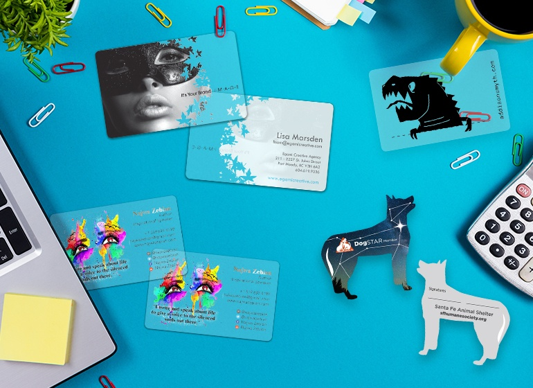 Custom printed plastic business cards