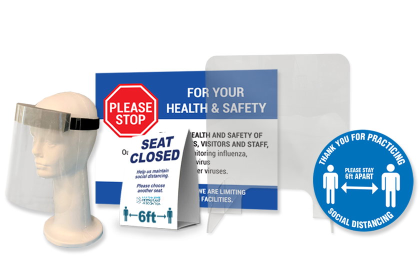PPE Face shields and safety supplies from Plastic Printers