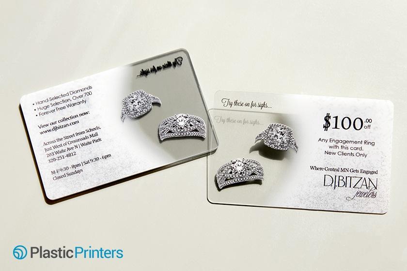 Clear Plastic Jeweler Business Card The D.J.Bitzan