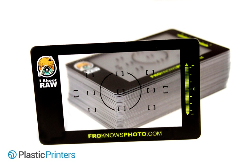 FroKnowsPhoto Clear Business Card Example
