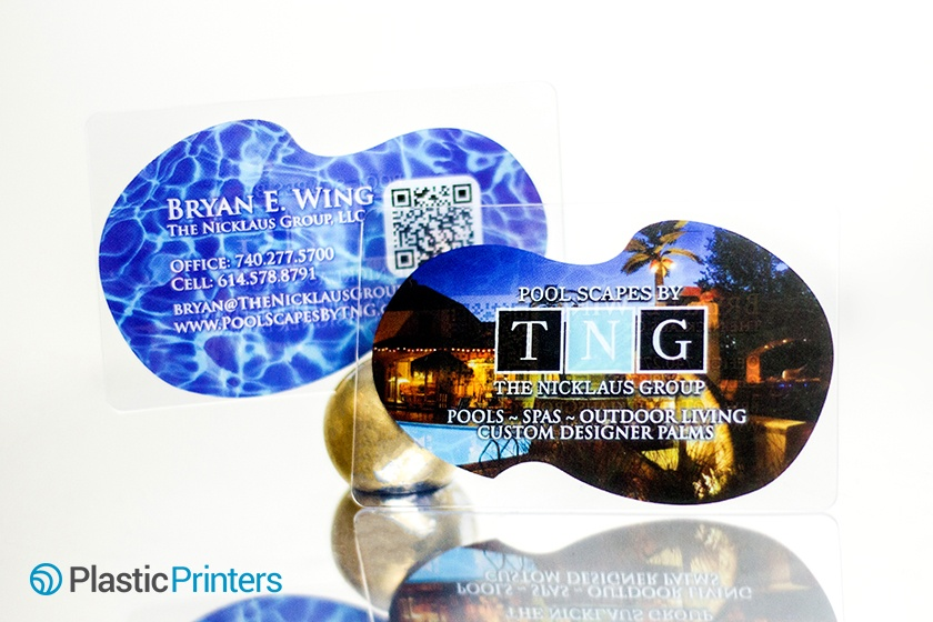 Pool and Spa Marketing Clear Business Card Example