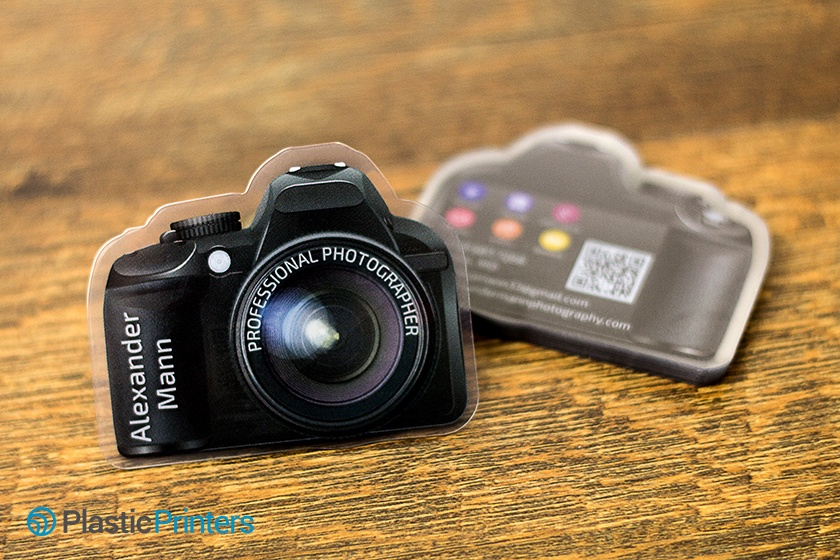 Photography Marketing Die Cut Business Card