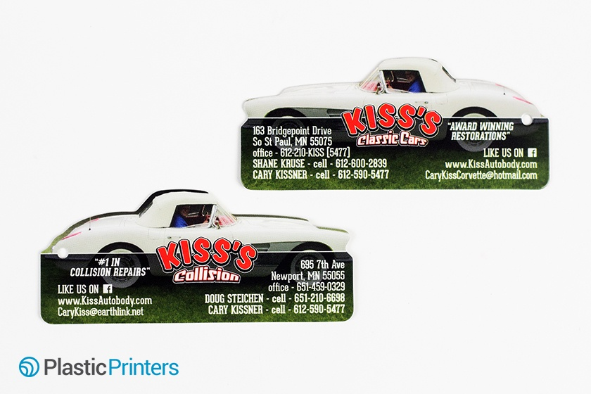 Die Cut Business Card Example of Automotive Marketing