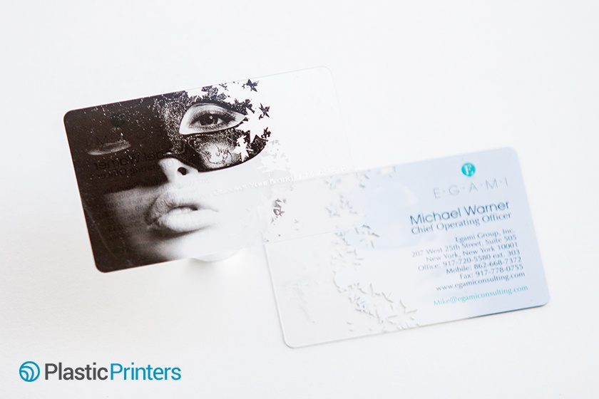 Transparent Business Cards Example from Egami
