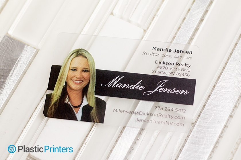 Real Estate Marketing Clear Business Card Example