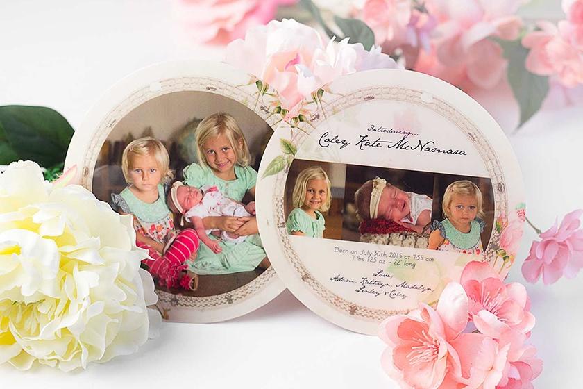 unique family photo birth announcements