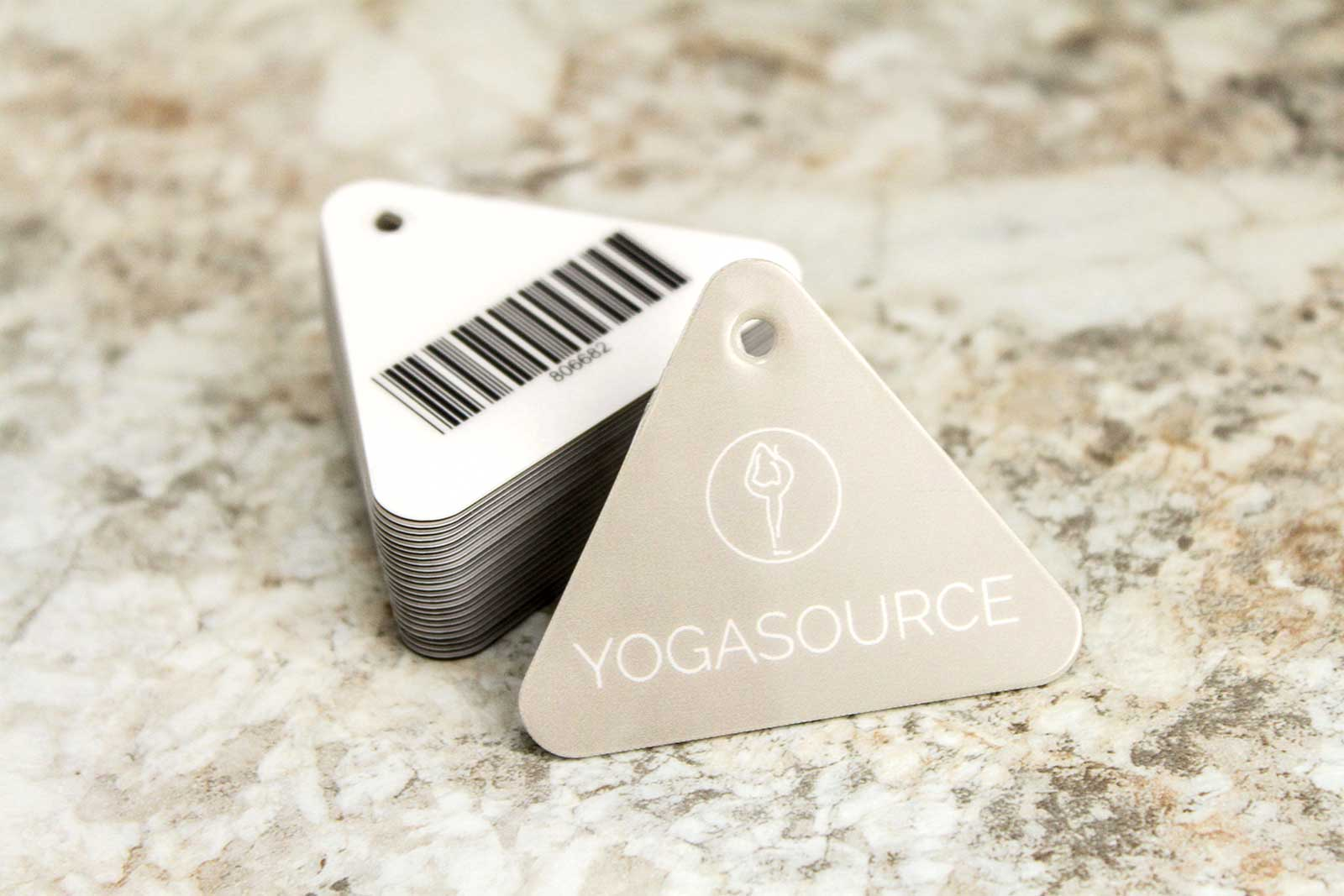 Yoga Source Custom Plastic Shaped Key Tags