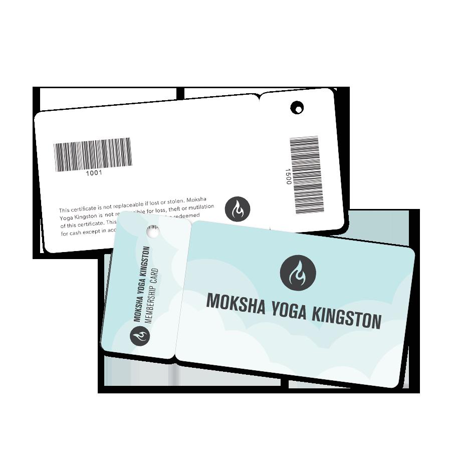 Moksha Yoga Membership Combo Cards