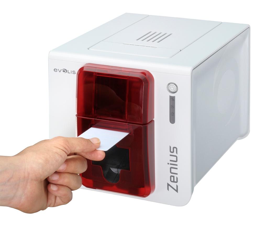 zenius evolis plastic card printer