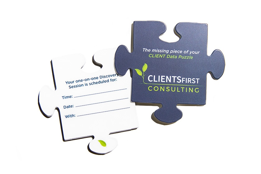 Puzzle Piece Shaped Writable Appointment Reminder Card
