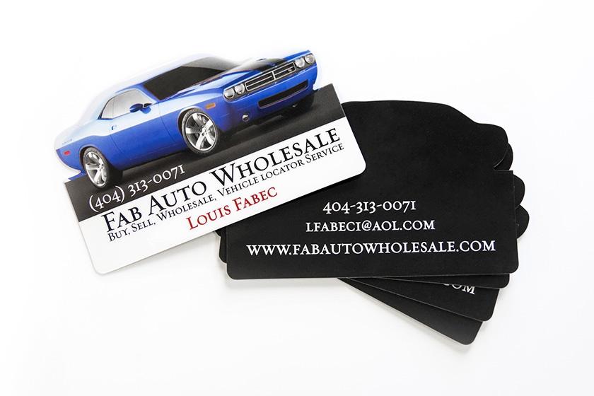 Custom Plastic Automotive Car Shaped Business Card