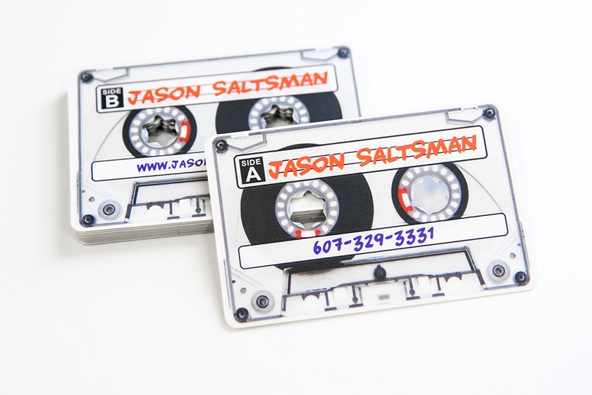 DJ Cassette Tape Shaped Plastic Card