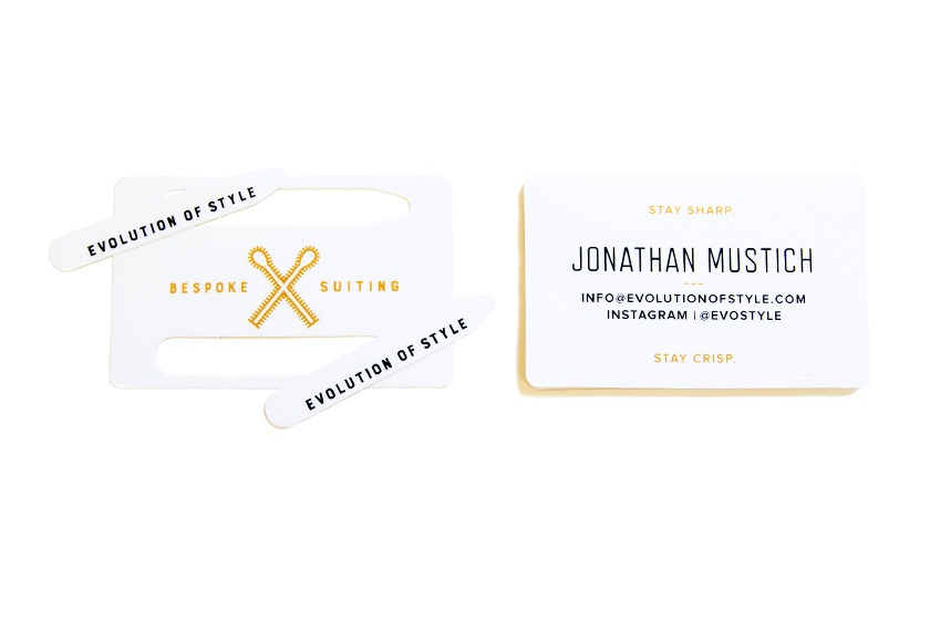 Men's Apparel Collar Stay Pop Out Business Cards