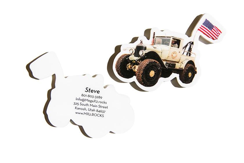 Unique Custom Jeep Vehicle Shaped Business Card