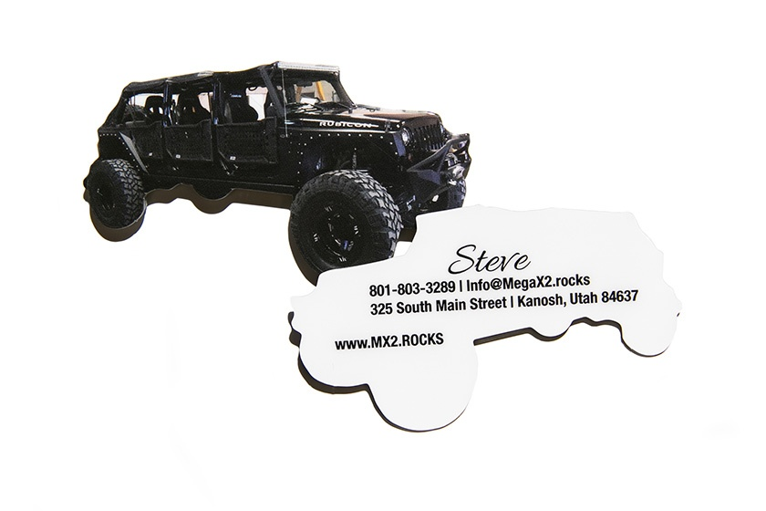 Extended Jeep Die Cut Business Card
