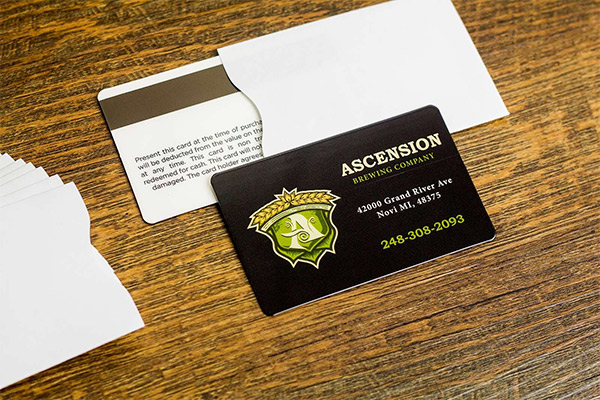How to accessorize your gift card program with gift card holders ascension brewing company gift card sleeves colourmoves
