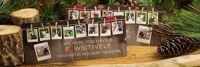 dog themed seasonal card