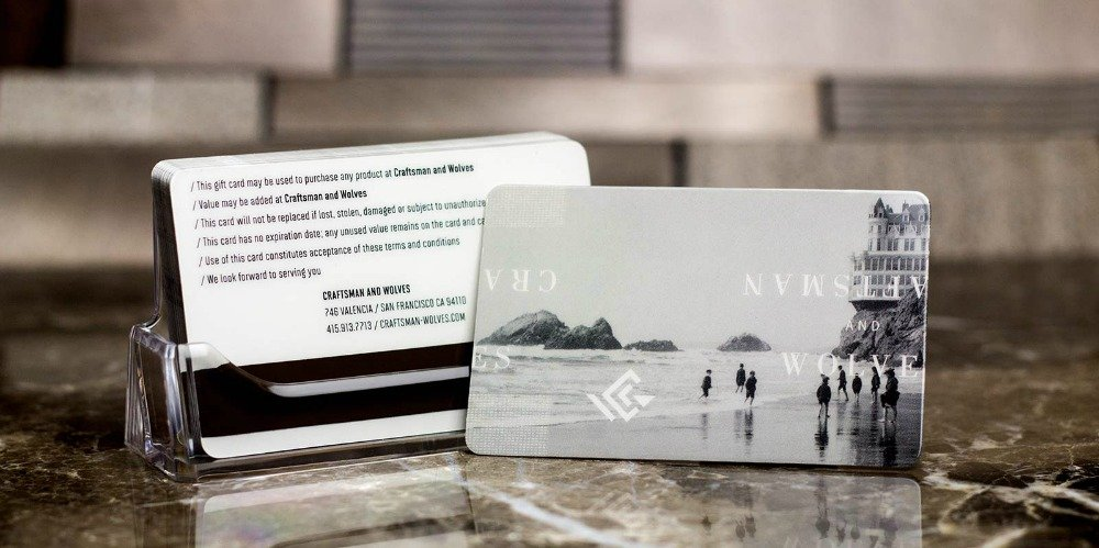 Craftsman and Wolves Magnetic Stripe Gift Card