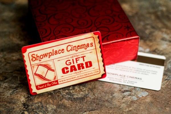 Showplace Cinemas Gift Card and Box Display
