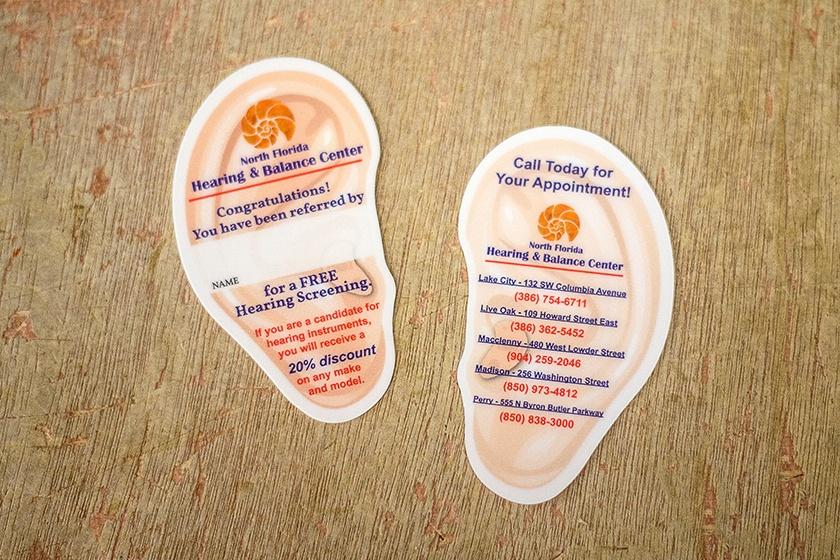 Referral-Card-Custom-Shape-Ear-Writable-North-Florida-Hearing-Balance-Center.jpg