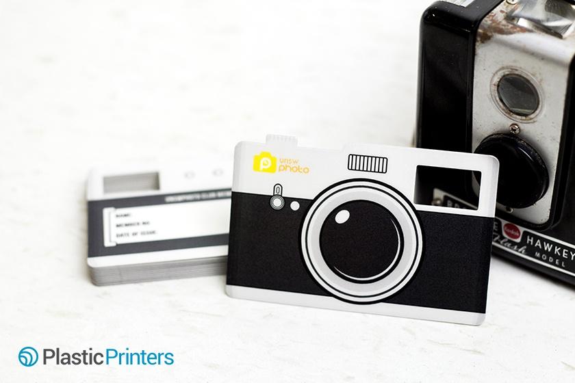 Camera Shaped Writable Membership Card